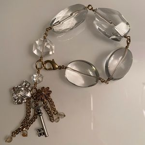 Fossil | Statement Clear Stone/Gold-Tone Bracelet